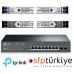 T1500G-10MPS 2 SFP Yuvalı 8 Port Gigabit Akıllı Yönetilebilir PoE+ Switch + 4 Adet 1G SM/MM SFP Modül