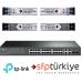 T1500-28PCT 24 Port 10/100Mbps + 4 Port Gigabit Akıllı Yönetilebilir Switch + 4 Adet 1G SM/MM SFP Modül