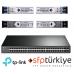 T1600G-52PS 4 SFP Yuvalı 48  Port Gigabit Akıllı Yönetilebilir PoE+ Switch  + 4 Adet 1G SM/MM SFP Modül