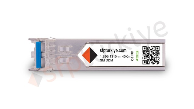AVAYA NORTEL Uyumlu Gigabit SFP Modül - 1000Base-EX 1310nm 40Km ER SM LC DDM