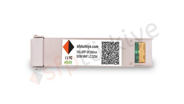 F5 Uyumlu 10 Gigabit XFP Modül - 10GBase-SX SR 850nm 300Mt MM LC DDM Transceiver