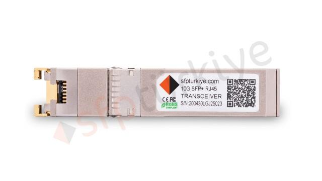FORCE10 Uyumlu 10 Gigabit RJ45 SFP+ Modül - 10GBase Bakır Transceiver