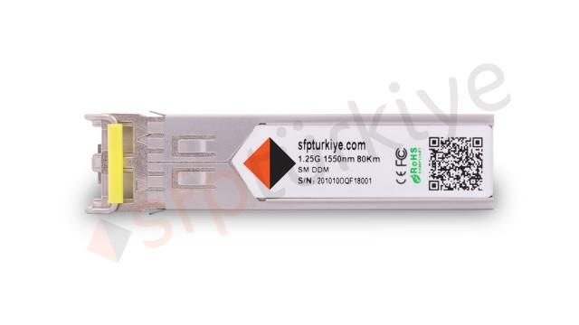 FORCE10 Uyumlu Gigabit SFP Modül - 1000Base-ZX 1550nm 80Km ZR SM LC DDM