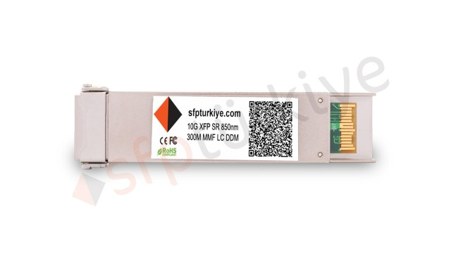 FORTINET Uyumlu 10 Gigabit XFP Modül - 10GBase-SX SR 850nm 300Mt MM LC DDM Transceiver